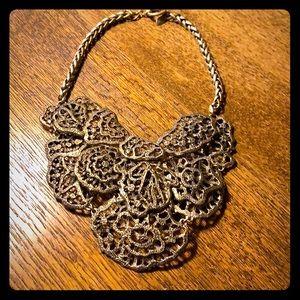 Statement necklace Ann Taylor brass